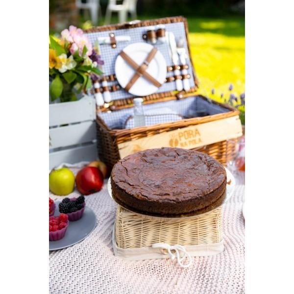 Brownie z białą czekoladą 20 cm