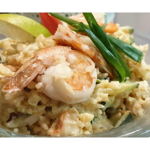 Sałatka ryżowo krewetkowa