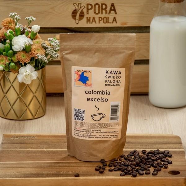 Kawa świeżo palona Colombia Excelso, ziarnista