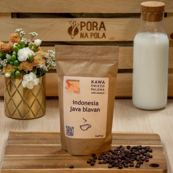 Kawa świeżo palona Indonezja Java Blavan, ziarnista