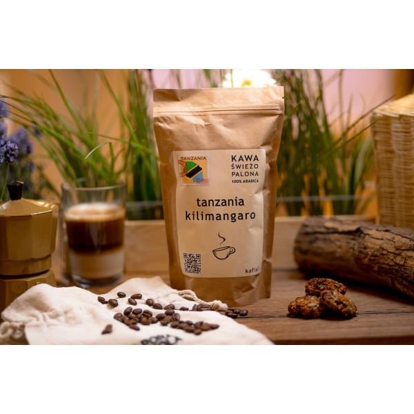 Kawa świeżo palona Tanzania Kilimangaro, ziarnista