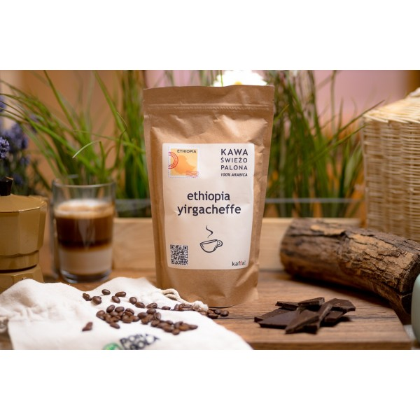 Kawa świeżo palona Ethiopia Yirgacheffe, ziarnista