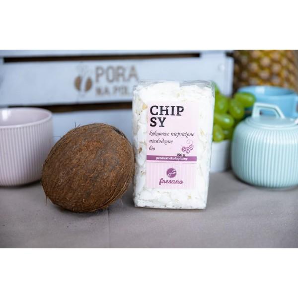 Chipsy kokosowe nieprażone niesłodzone EKO