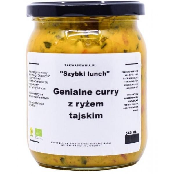 Delikatne Curry z ryżem tajskim