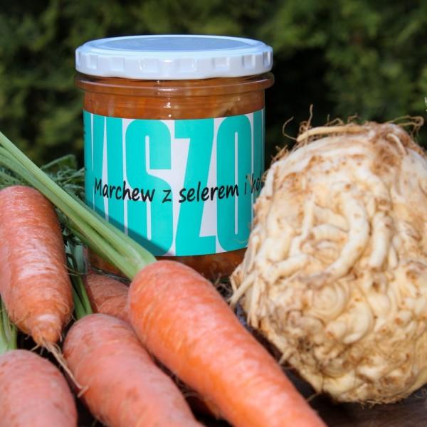 Marchewka kiszona z selerem i kolendrą - wiórki