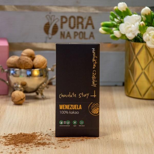 Czekolada 100% kakao z ziarna z Wenezueli (bez cukru)
