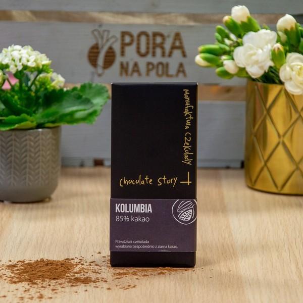 Czekolada 85% kakao z ziarna z Kolumbii