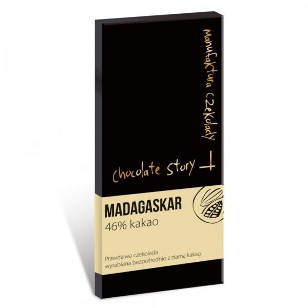 Czekolada 46% kakao z ziarna z Madagaskaru (z mlekiem)