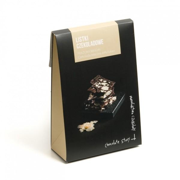 Listki czekoladowe z migdałami