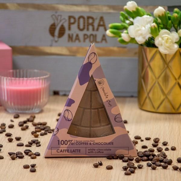Czekolada trójkątna - biała z kawą