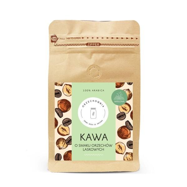 Kawa o smaku orzechów laskowych mielona