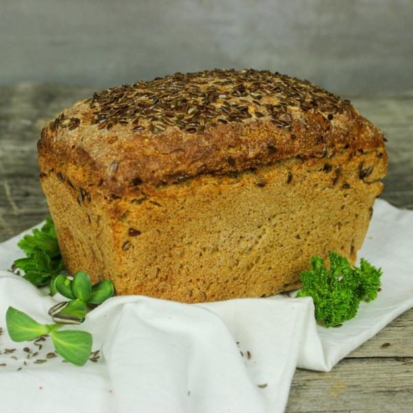 Chleb żytni sitkowy z siemieniem lnianym od Pani Teresy