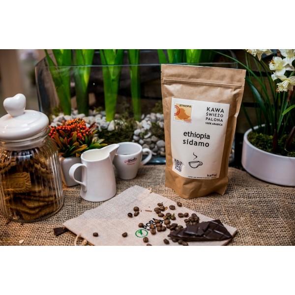 Kawa świeżo palona Ethiopia Sidamo, ziarnista