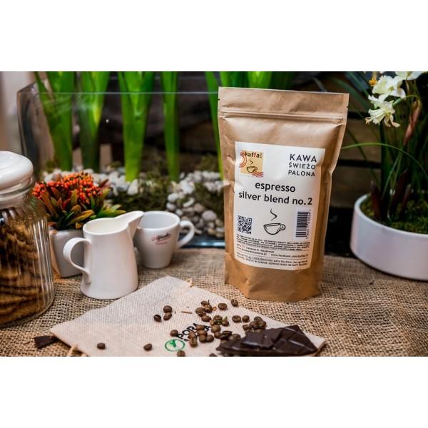 Kawa świeżo palona Espresso Silver Blend no. 2, ziarnista