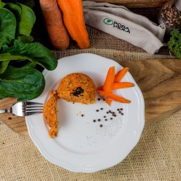 Kotlet marchewkowy wegański
