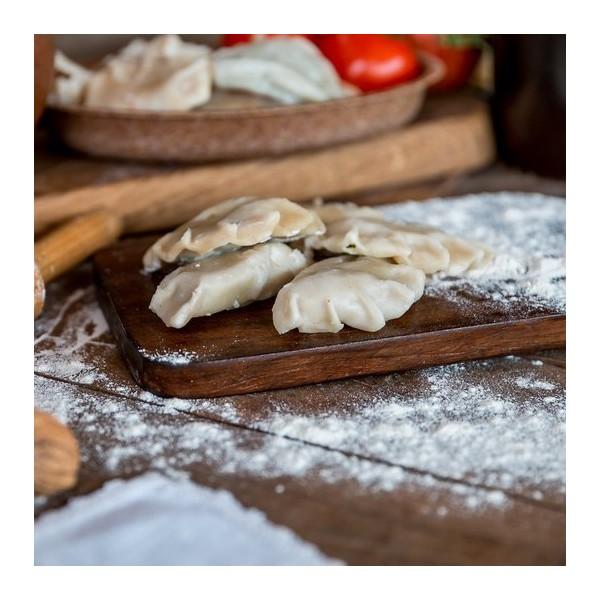 Pierogi orkiszowe szpinak i feta