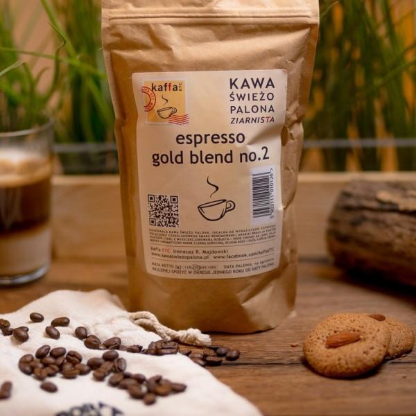 Kawa świeżo palona Espresso Gold blend, ziarnista