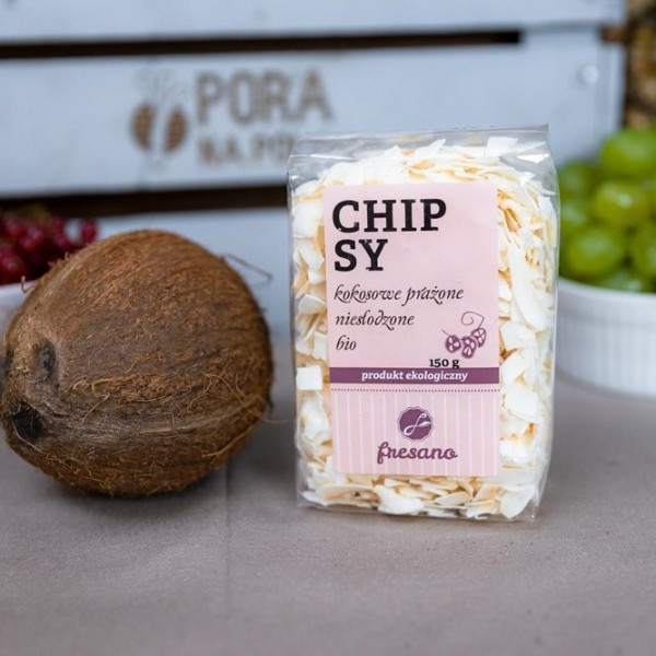 Chipsy kokosowe prażone niesłodzone EKO