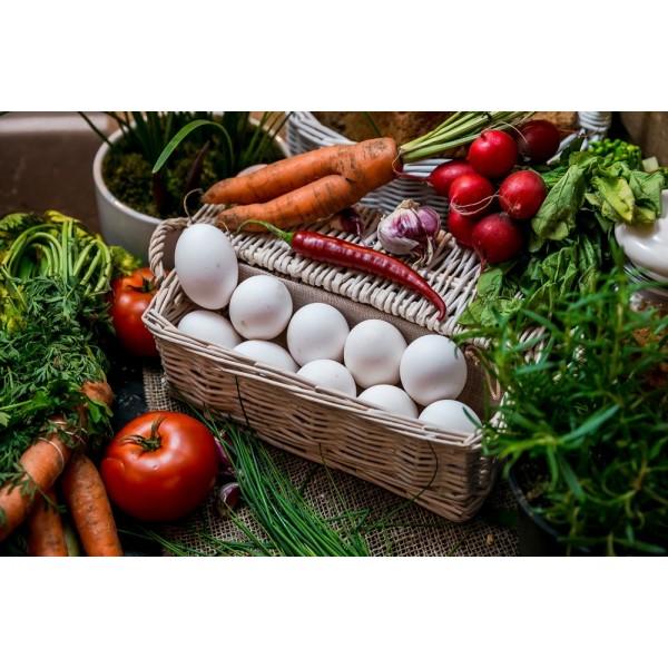 Jaja wiejskie białe