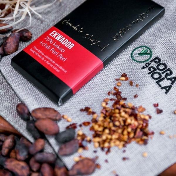 Czekolada 70% kakao z ziarna z Ekwadoru z chili Peri Peri