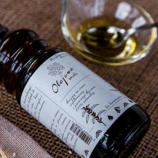 Olej z lnianki (olej rydzowy) tłoczony na zimno