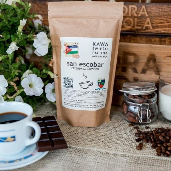 Kawa świeżo palona San Escobar, ziarnista