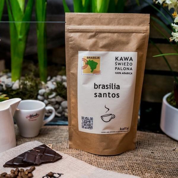 Kawa świeżo palona Brasilia Santos, ziarnista