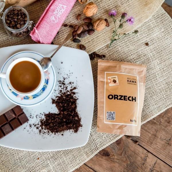 Kawa mielona o smaku orzechowym
