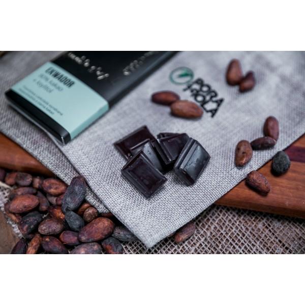 Czekolada 80% kakao z ziarna z Ekwadoru z ksylitolem
