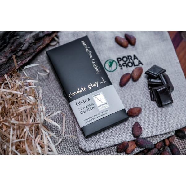 Czekolada Grand Cru 70% kakao z ziarna z Ghany