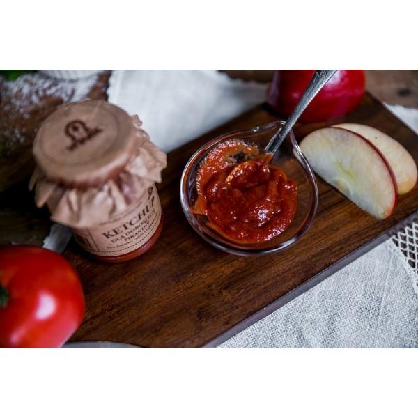 Ketchup dla dorosłych słodzony sokiem jabłkowym